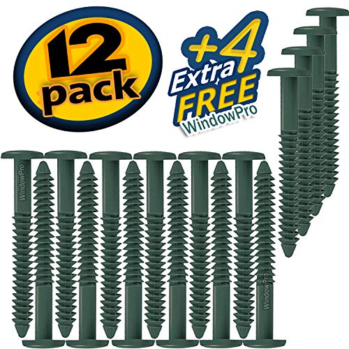 (Window Shutters Panel Peg Loks 3 inch 12 pack (Forest Green)Buy One Bag of 12 Loks and Get 4 Extra Shutter Peg Loks FREE)