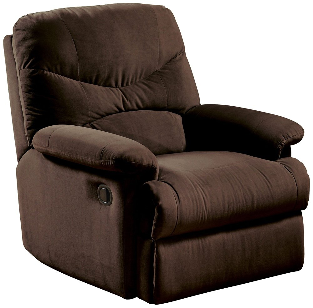 Amazon.com: Microfiber Glider Recliner In Chocolate By Acme Furniture:  Kitchen U0026 Dining