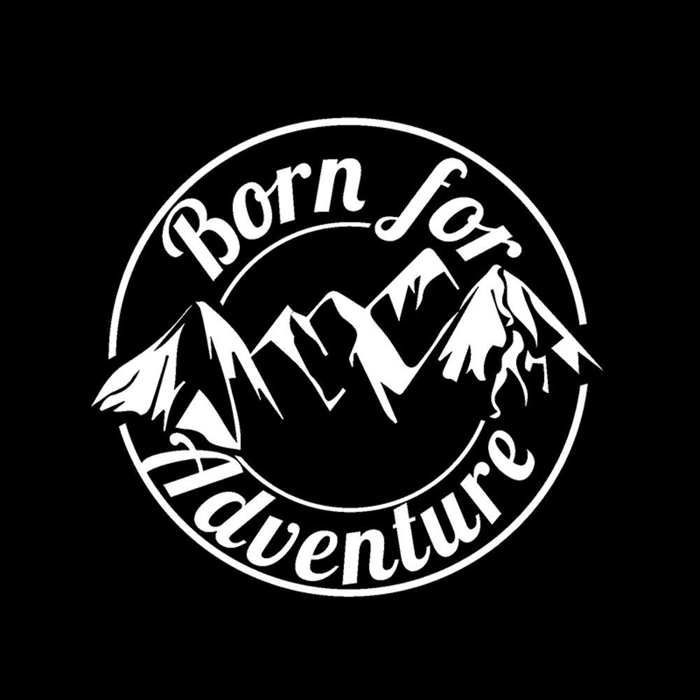 Connoworld Clearance Sale 2018 Cool Born for Adventure Mountain Reflective Decal Sticker Car Motorbike Decor