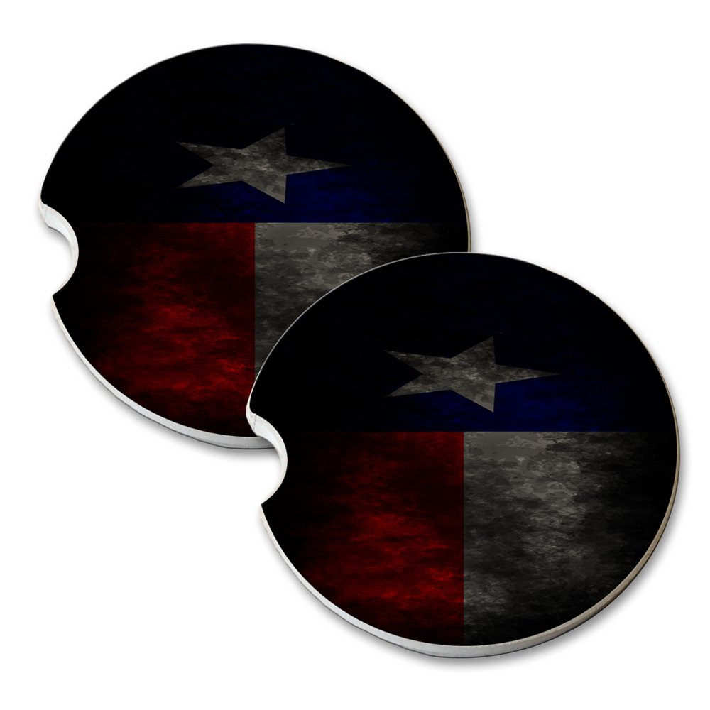 Texas Flag - Car Cup Holder Natural Stone Drink Coaster Set Elements of Space