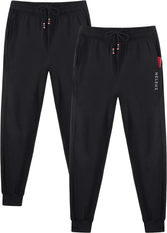 Neleus Men's Athletic Sweatpants Jogger Ankle Pants
