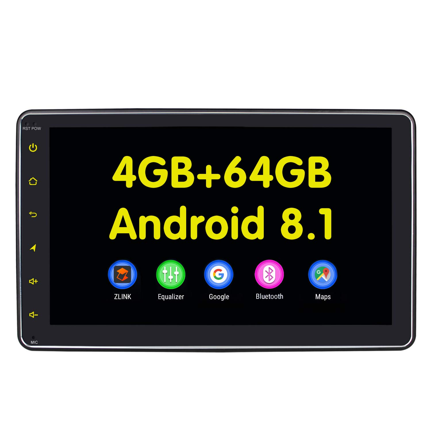 JOYFORWA Car Stereo Single Din 8 inch Car Radio Android 8.1 GPS Navigation Detachable Screen In-dash Headunit 4GB RAM 64GB ROM Support Android Auto Backup Camera OBD2 DVR USB/SD TPMS