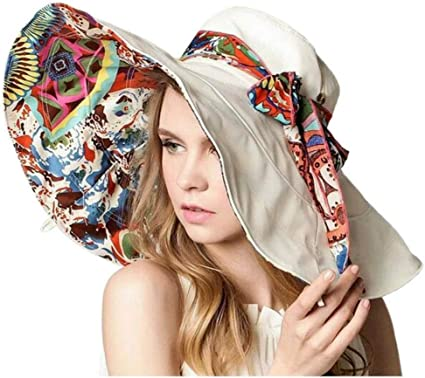 Women Floppy Sun Hat Reversible Womens Pretty Hats and Caps pattyandcompany\u2122 Great for Travel Crushable and Reversible Floral Pattern Hat