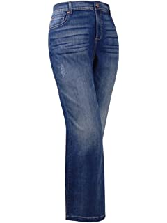 INC International Concepts Plus Size Indigo Wash Flare-Leg Jeans