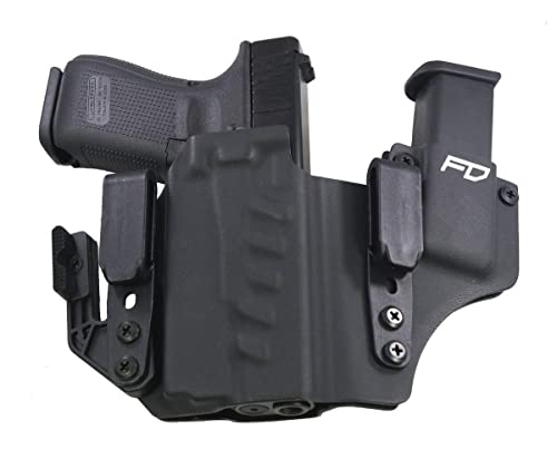 Fierce Defender IWB Kydex Holster Glock 19 23 32 w/Olight PL-Mini Valkyrie +1 Series w/Claw -Made in USA- Gen 5 Compatible