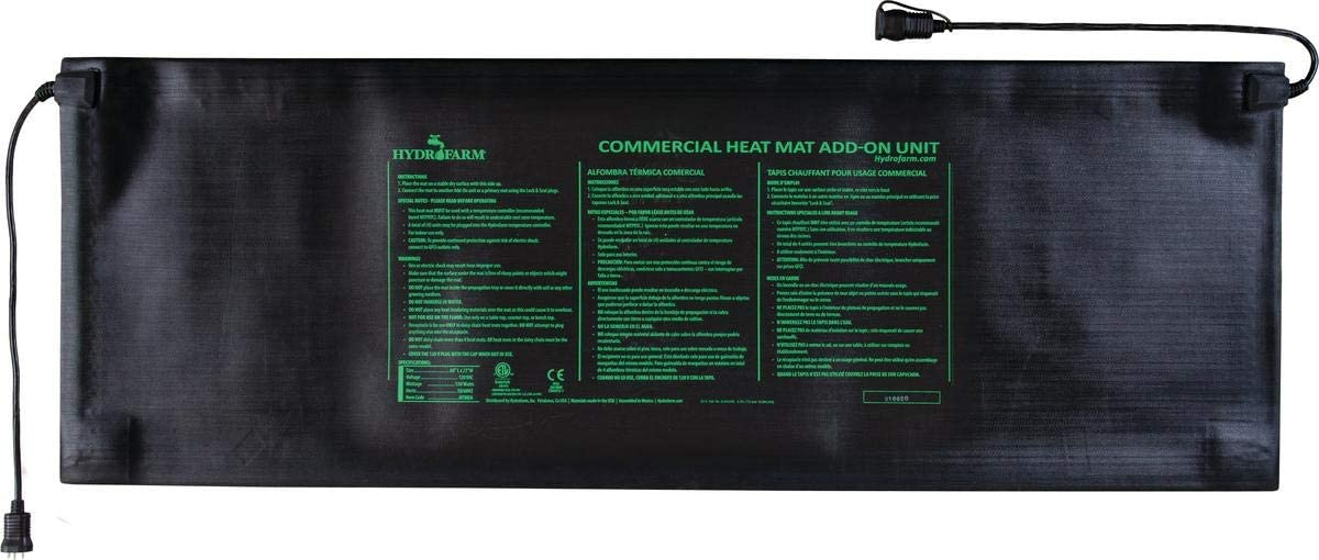 "Jump Start JumpStart MTMDA Commercial Seedling Heat Mat Modular Add-on, 60"" x 21"", 140, 60 x 21 Inch, Black"