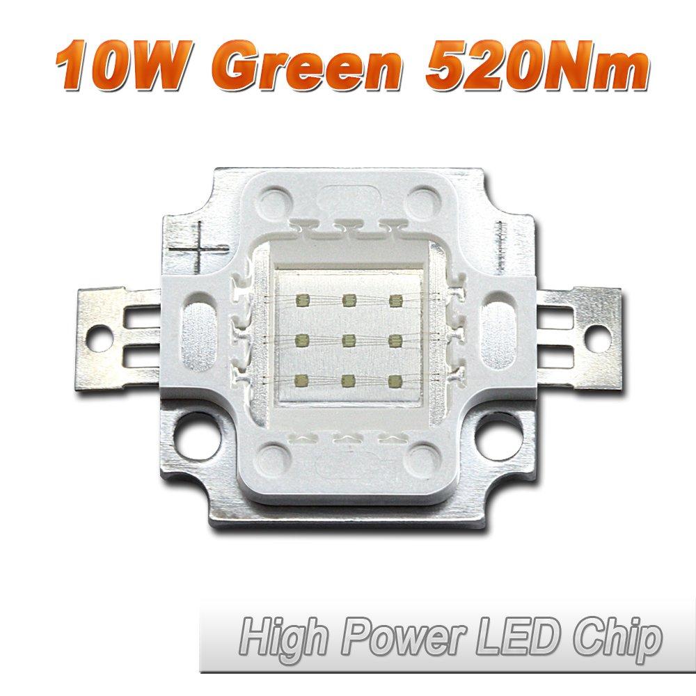 20 Pcs Hontiey High Power LED Chip 50W Green Light 520Nm-525Nm Bulbs 50 Watt Beads DIY Spotlights Floodlight COB Integration Lamp SMD Garden Lights