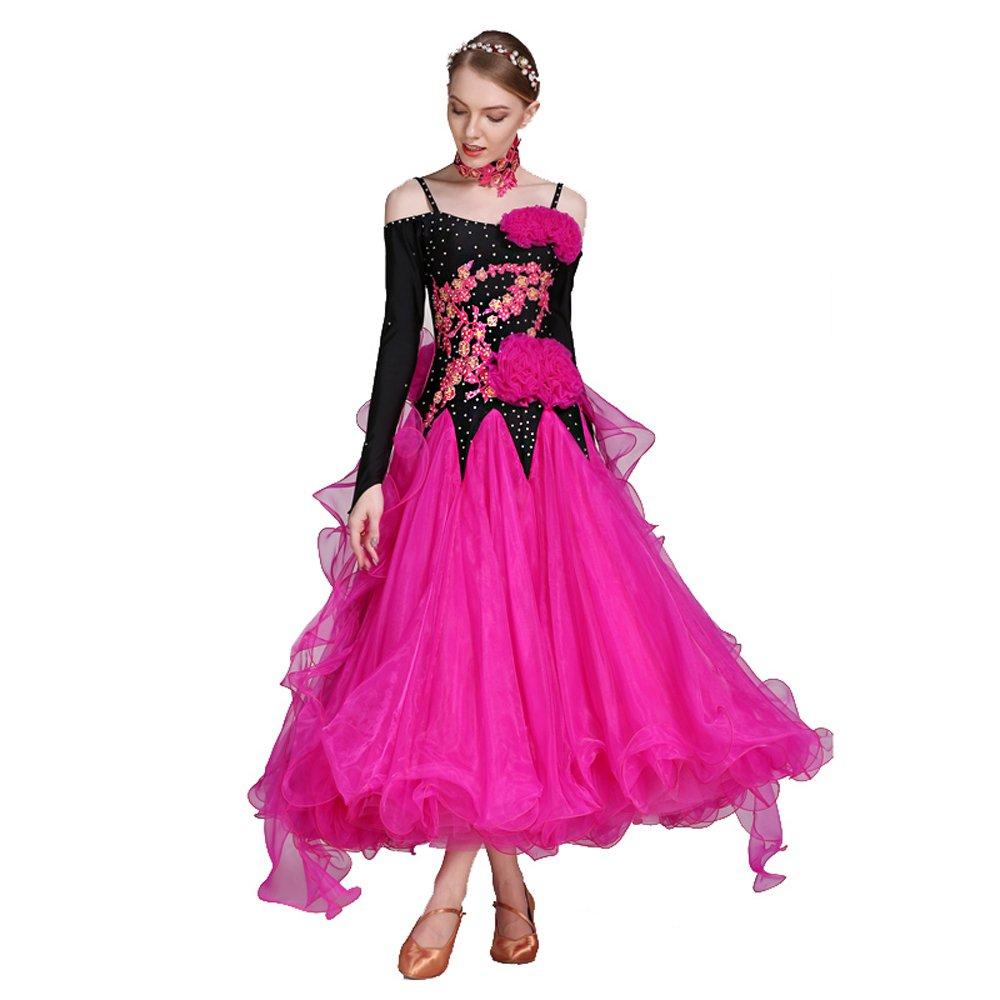 公式の  女性の手刺繍モダンダンスドレス大きな振り子スカート全国基準ダンスドレスダンスコンペティションパフォーマンスドレスラインストーンダンスコスチュームタンゴワルツスカート B07HHXSMSK XL XL|Pink Pink Pink B07HHXSMSK XL, ラベルシール専門店 おおきに:47b9da61 --- a0267596.xsph.ru