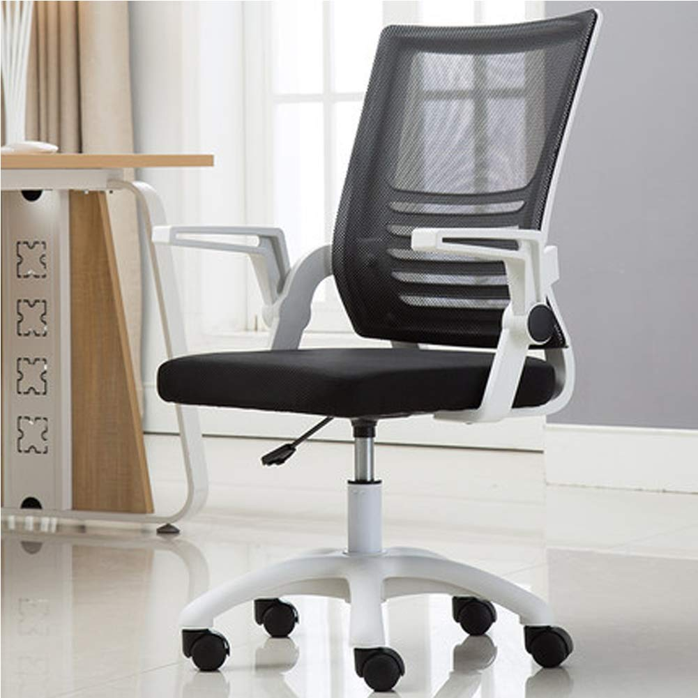 Ergonomic High Back Mesh Office Chair, Memory Foam Pillows Back Cushion Lumbar Support for Car Home Office Chair, Swivel Desk Chair, Flip up Armrests