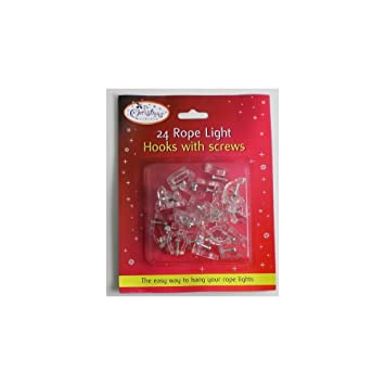 24 rope light hooks with screws c24 amazon toys games 24 rope light hooks with screws c24 aloadofball Choice Image