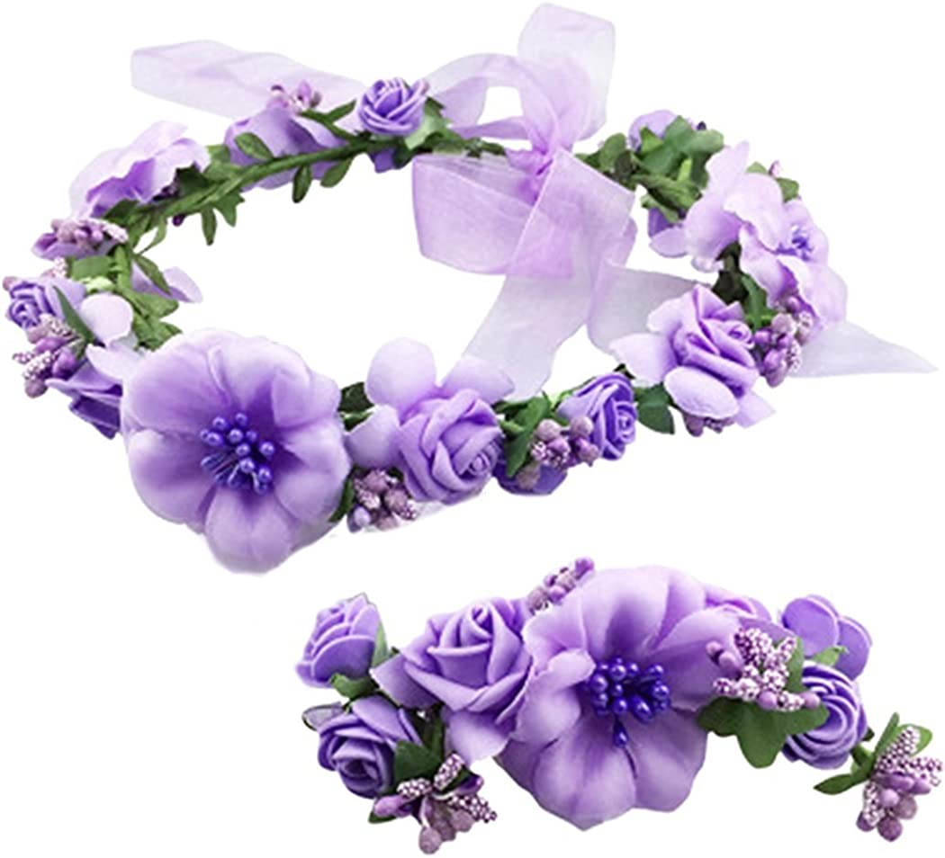 2pc Set Flower Crown Floral...