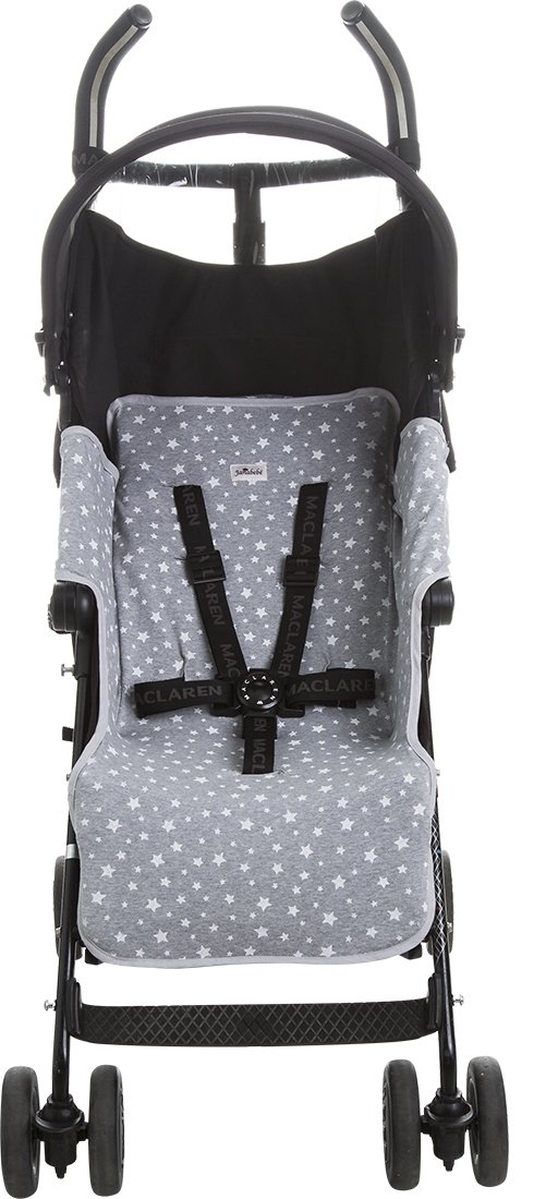 Janabebé Mat for Maclaren Quest (New Version: Padded) (White Star) by JANABEBE