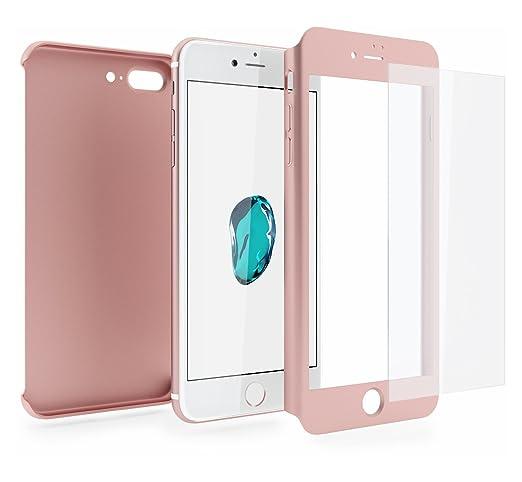170 opinioni per Cover iPhone 7 PLUS 360 Gradi + Pellicola Vetro Temperato, Mobilyos® [ 360 ° ] [