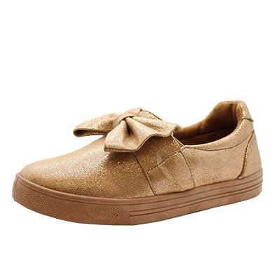 e5f24254a9336 SAUTE STYLES Women Flat Plimsolls Slip On Twist Bow Pumps Trainers Sneakers  Shoes Size 3-8: Amazon.co.uk: Shoes & Bags