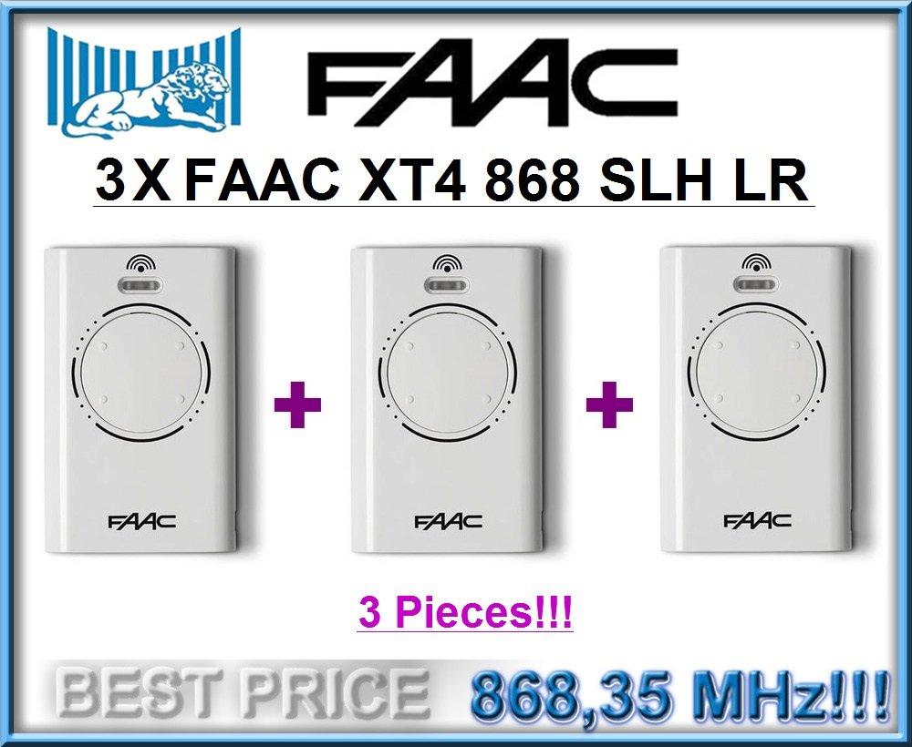 3/x FAAC XT4/868/SLH LR blanco 868/mhz rolling code Keyfobs 3/mandos a distancia para ganga precio. 4/canales mandos a distancia Transmisores