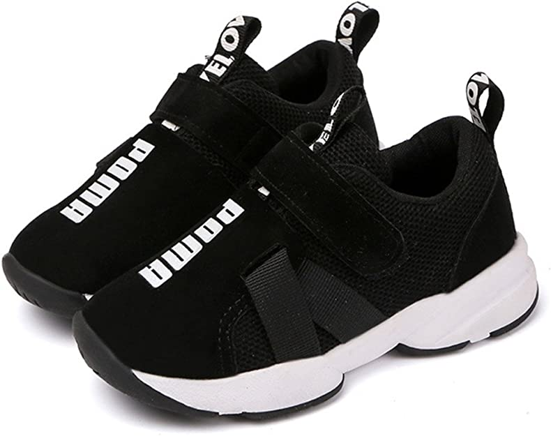 Daclay Zapatos niños Deportivo Transpirable y Transpirable con Parte Superior de Cuero cómoda con Zapatillas Velcro niña Sneakers: Amazon.es: Zapatos y complementos