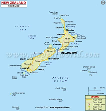 New Zealand Highway Map.Amazon Com New Zealand Highway Map Laminated 36 W X 38