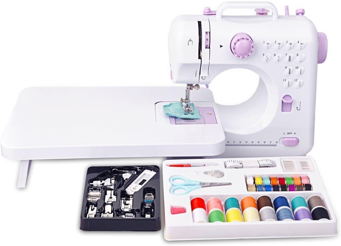 Mini máquina de coser eléctrica puntadas Portable12 luz de ...