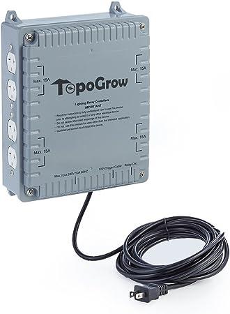 TopoGrow 4/8 Lighting Relay Ballast Maximum 4000/8000W Grow Light Controller Grow Tent (8 Lighting Relay Controller)