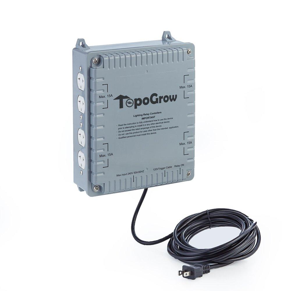 Oppolite 4/8 Lighting Relay Ballast Maximum 4000/8000W Grow Light controller Grow Tent (8 Lighting Relay Controller) (8 Lighting Relay Controller)