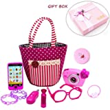 Essential-Mart Direct My First Purse Pretend Play Make up Set 10 PCS, Pretty Role Play Toy for Girls, Educational Pretend Toy for Preschoolers and Toddler Purse, Birthday, New Year, in Gift Box