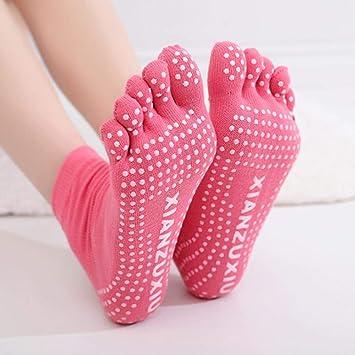 EABBY Calcetines de Yoga para Mujer Calcetines ...
