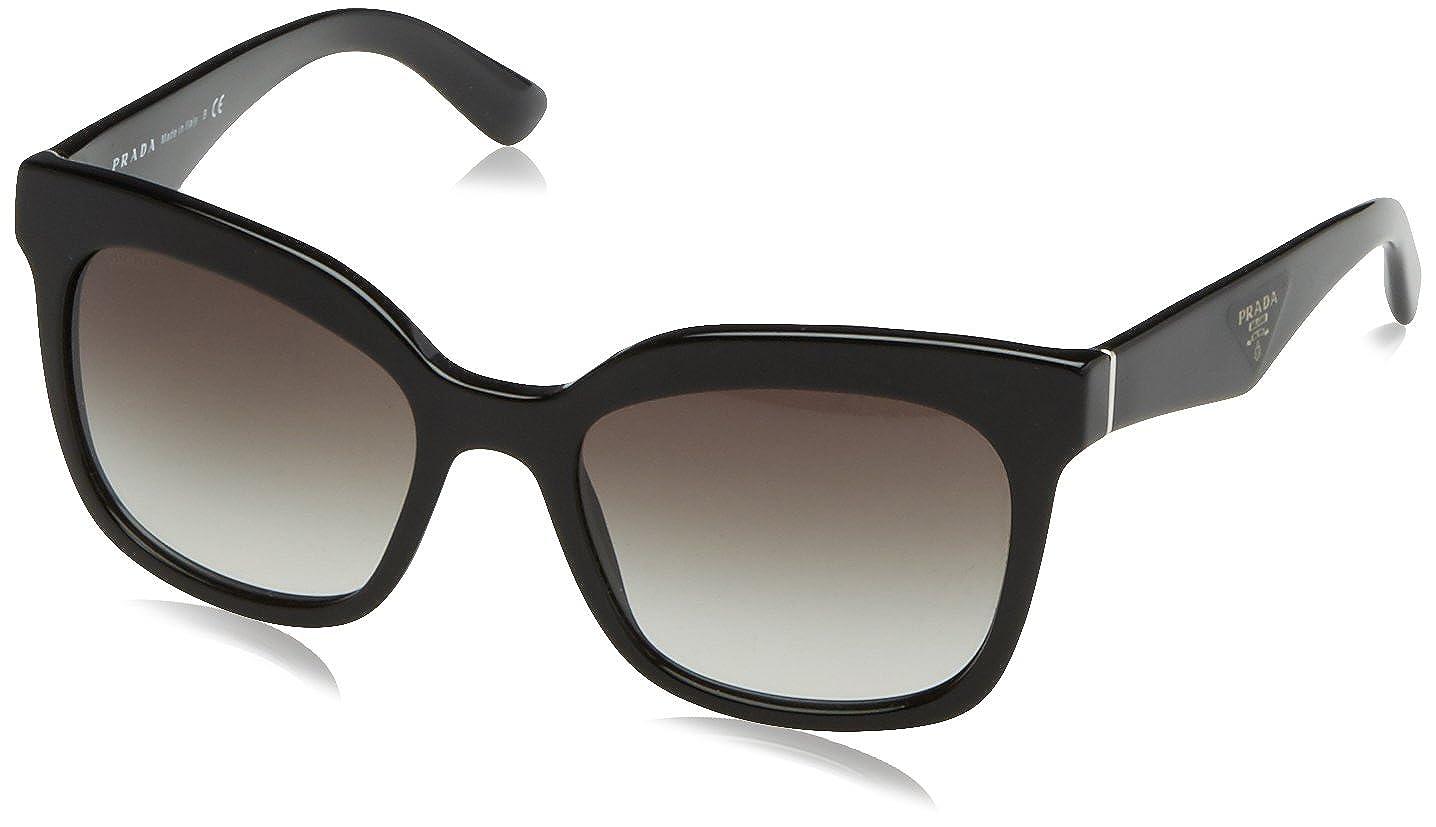 Amazon.com: Prada Spr 24Q de la mujer anteojos de sol, negro ...