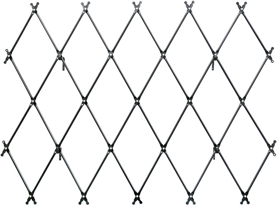 Achla Designs FT-32G Mounted Lattice Wrought Iron Garden Wall Trellis, Graphite