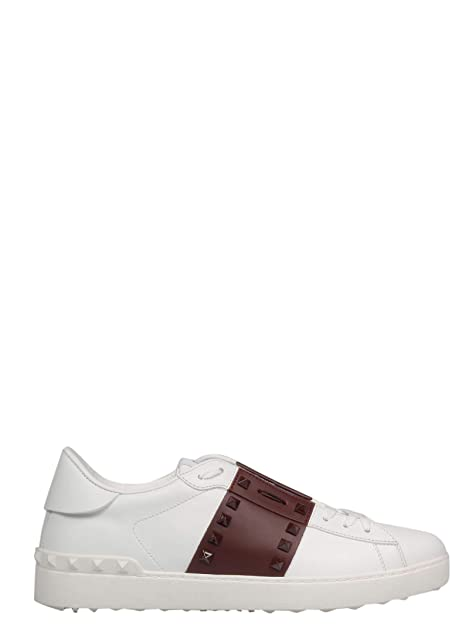 Valentino Garavani Hombre RY2S0931LTUR67 Blanco Cuero Zapatillas: Amazon.es: Zapatos y complementos