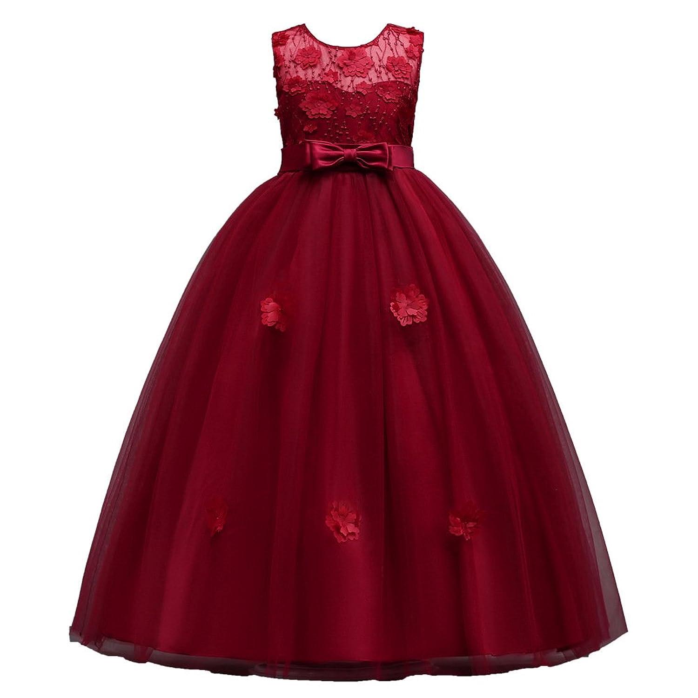 achat le plus récent magasiner pour véritable beau lustre Filles Fête Robe Tulle Robe Été Fête Mariage Robe Sans ...