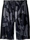Kyпить Under Armour Kids Boy's Instinct Printed Shorts (Big Kids) Overcast/Black/Graphite Medium на Amazon.com