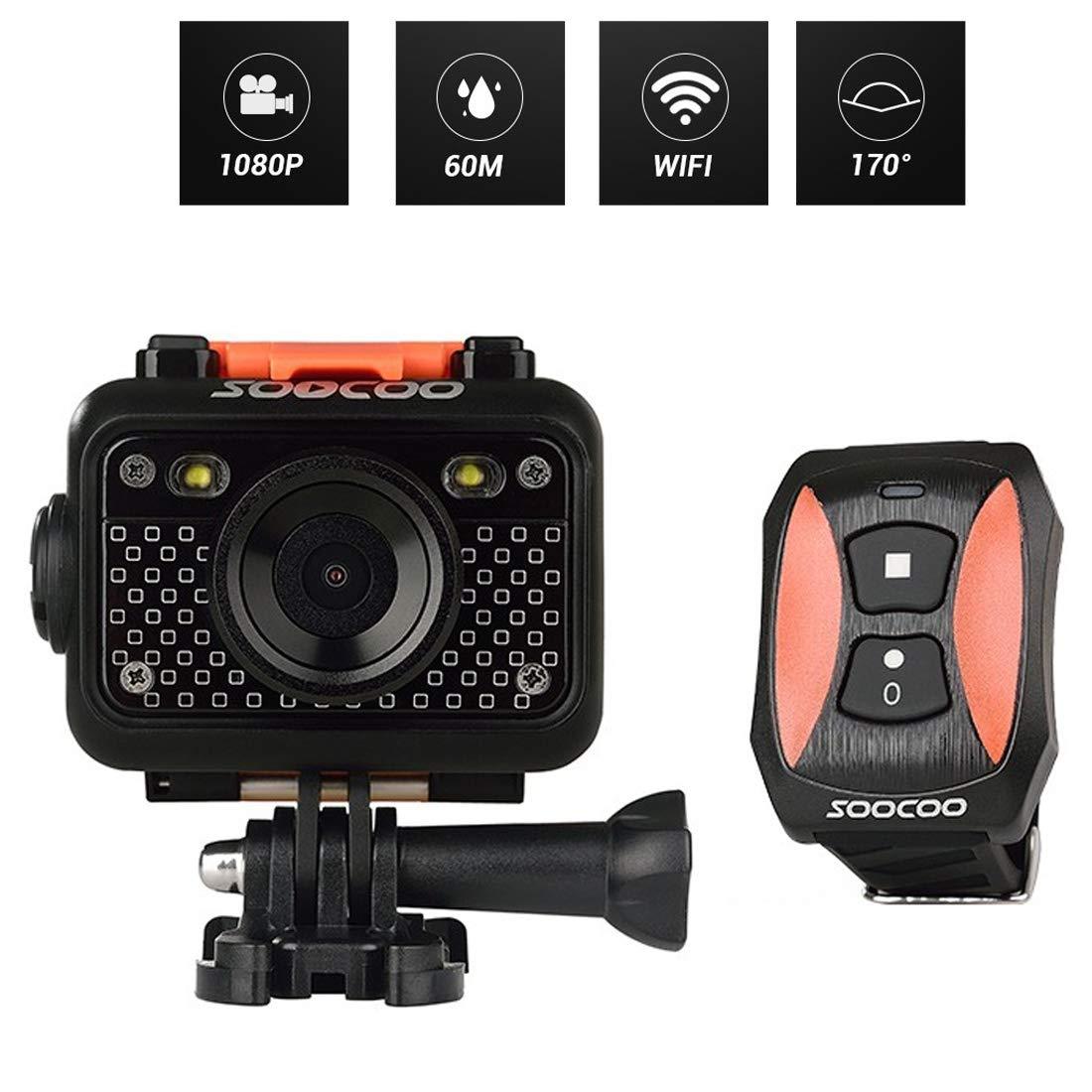 SOOCOO S60 HD 1080 P 1.5インチLCDスクリーンWiFiスポーツカメラ、170度広角レンズ、60m防水(グッド防水性能) Durable   B07QHWMBZJ