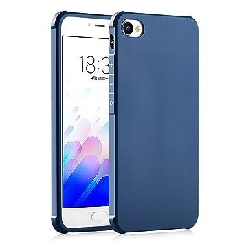Hevaka Blade Meizu M3X Funda - Suave Silicona TPU Carcasa Smart Case Cover Para Meizu M3X - Azul