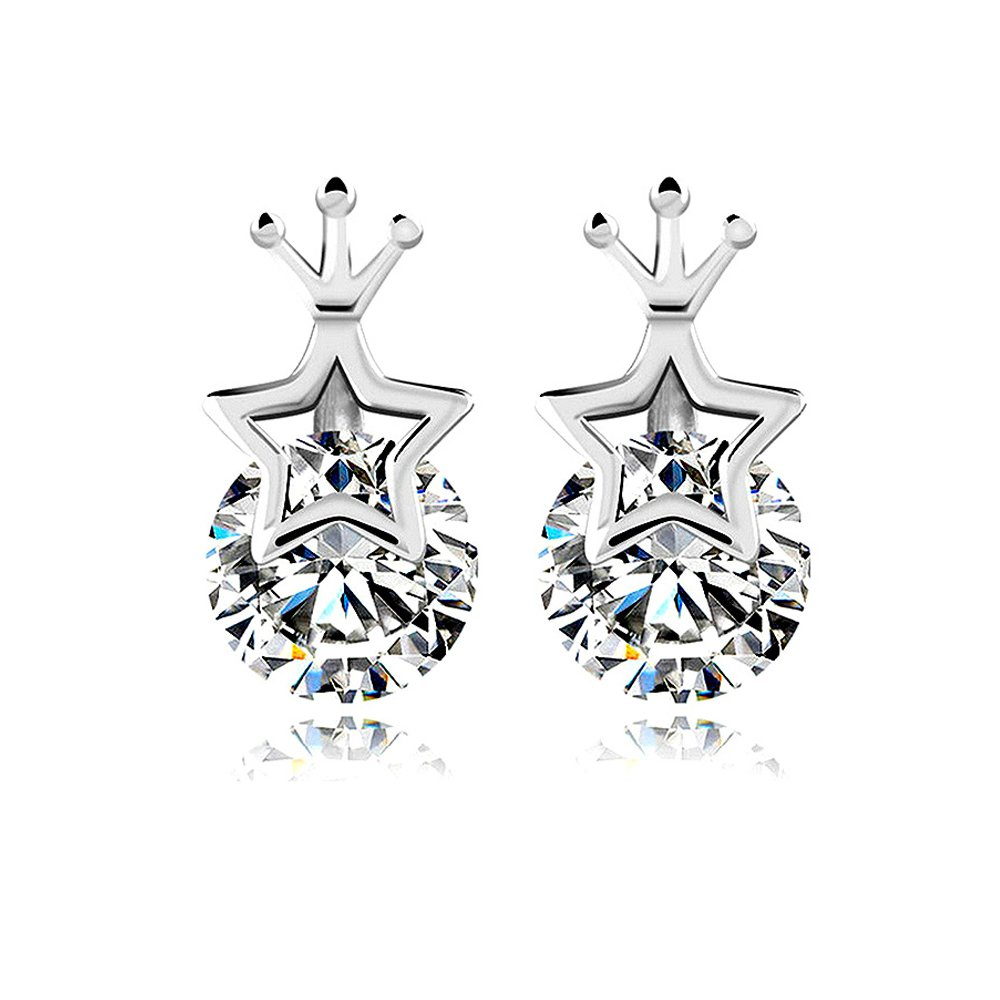 Several Styles Women Girl Fashion Platinum Plated High polished Pierced Ear Studs Earrings