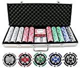 13.5g 500pc Aces Up Clay Poker Chips Set (Small Image)
