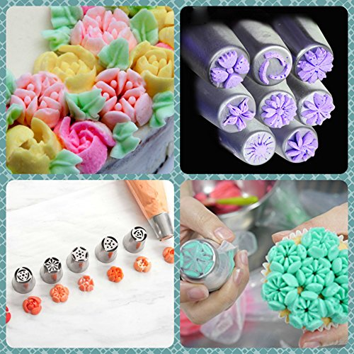 Decorator Supply: DELUXE Russian Piping Tips 66pcs Icing Tips Russian Tips