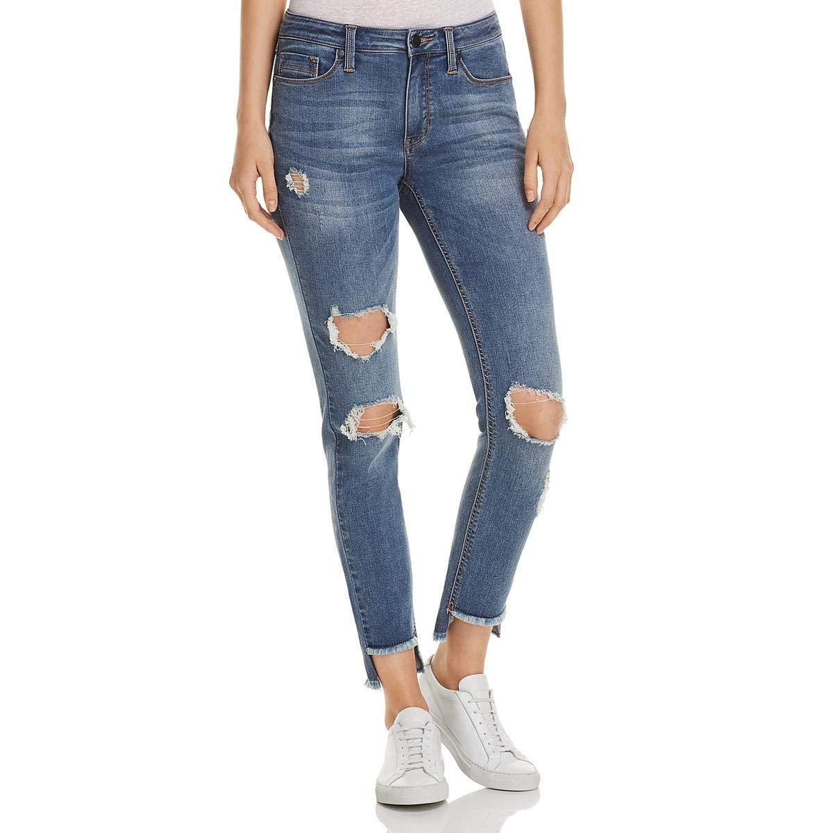 Kenneth Cole Womens Jess Skinny Jean with Step Hem