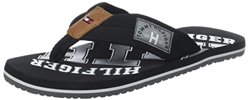 5290328b95293 Tommy Hilfiger Men s Essential Th Beach Sandal Flip Flops  Amazon.co ...