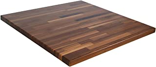"product image for John Boos Blended Walnut Butcher Block Countertop - 1-1/2"" Thick, 109"" L x 38"" W, Varnique Semi-Gloss"