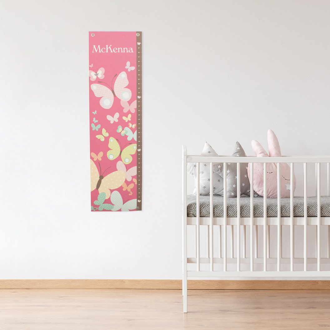 Growth Chart Nursery Childs Room Décor Unique Baby Shower Gift Personalized Name Keepsake Height Growth Chart Ruler