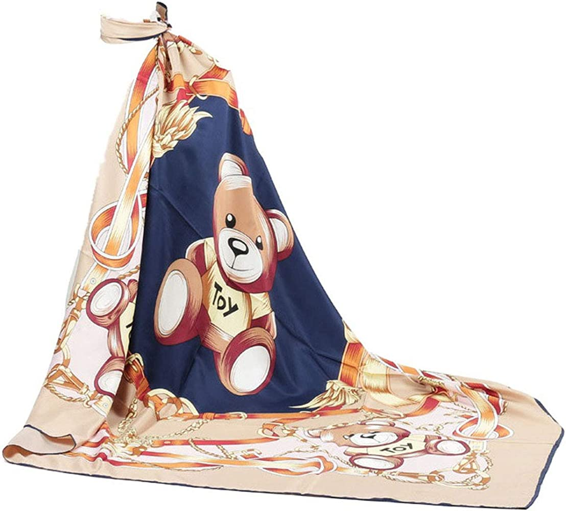 47c2d1d87 Square Silk Scarf For Women's Scarves Hijabs Shawl Pashmina Headband  Cartoon Design For Women 51 inches