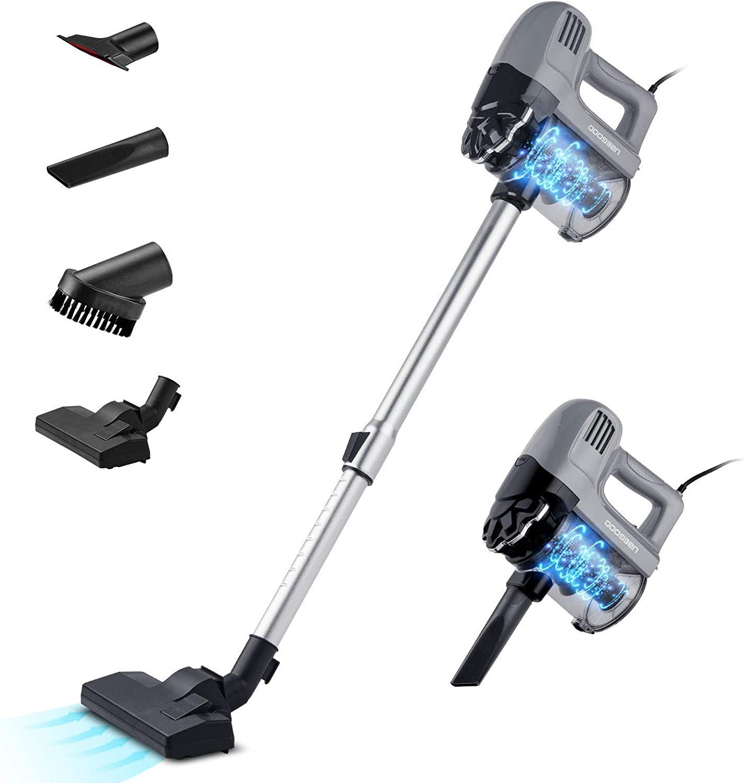 UBEGOOD Stick Vacuum Cleaner, Lightweight Vacuum Cleaner 500W Strong Suction, Handheld Corded Vacuum Cleaner for Home Hard Floor Carpet Pet Hair