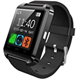 Premsons Bluetooth smart watch Compatible with 99% Android Smartphones iOS Apple iPhone 4/4S/5/5C/5S/6/6 Plus/6S/6S Plus, Samsung S2/S3/S4/Note 2/Note 3, Nexus 6, Moto G3/ G4, Xiaomi Redmi Note 2/3, Coolpad Note 2/3, HTC, Sony, Blackberry(Black)