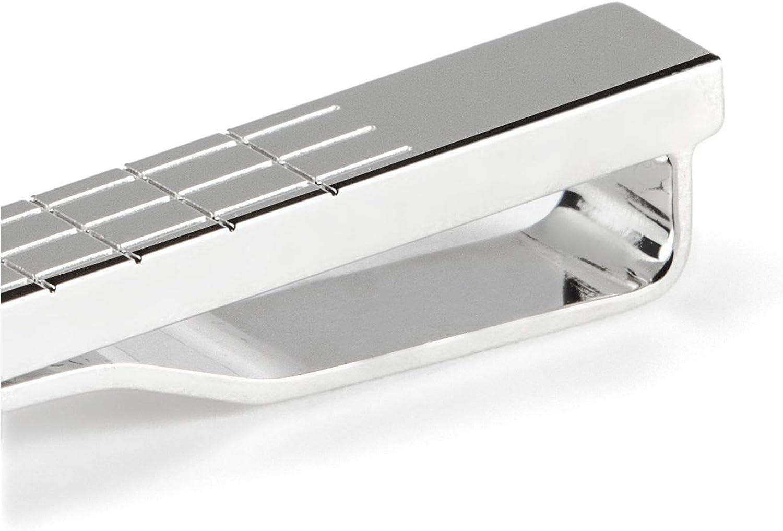ONESI Silver40 HUGO Herren E-WINDOWPANE-TIE BAR Krawattennadel