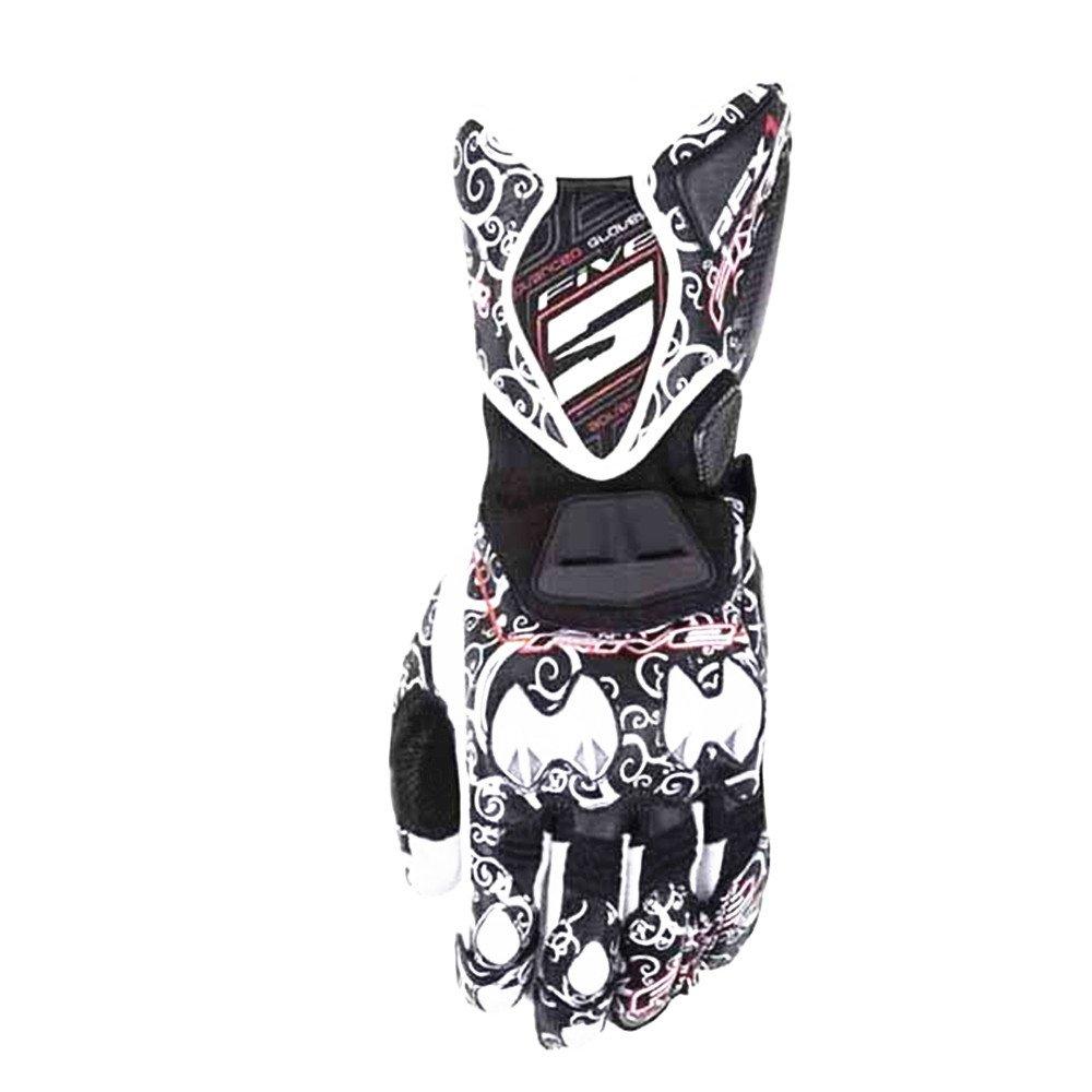 レーシングオートバイの手袋を印刷する オートバイ登山トレッキング狩猟野外スポーツ用品グローブフルフィンガーサイクリング用手袋 (色 : ブラック, サイズ : L) Large ブラック B07FSR1SMN
