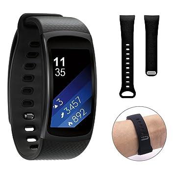 Dokpav® Samsung Gear Fit 2 Banda de Reemplazo Pulsera Ajustable Correa de Reloj para Samsung Gear Fit 2 SM-R360 Smartwatch - Negro