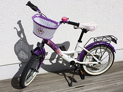bike*star 40.6cm (16inches) Kids Children Girls Bike Bicycle Classic – Colour Lilac & White Best Deal