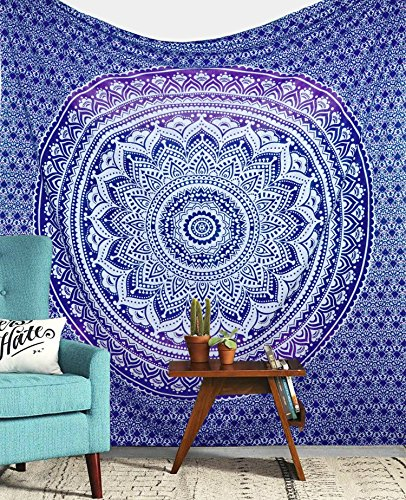 Purple Ombre Tapestry Wall hanging College Dorm Tapestry