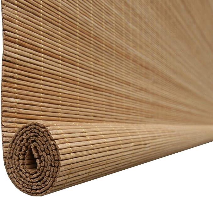 WeN El bambú Natural enrolla para Arriba la Cortina del Sol Oculta de la Ventana, tamaño Adaptable (Size : 130x250cm): Amazon.es: Hogar
