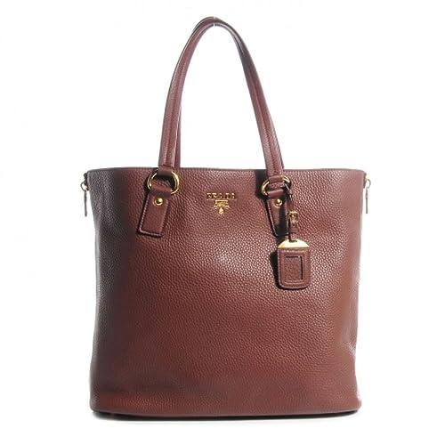 96977fa83d76 Prada Women s Vitello Daino Brown Leather Shopping Tote Bag BR4372   Amazon.ca  Shoes   Handbags